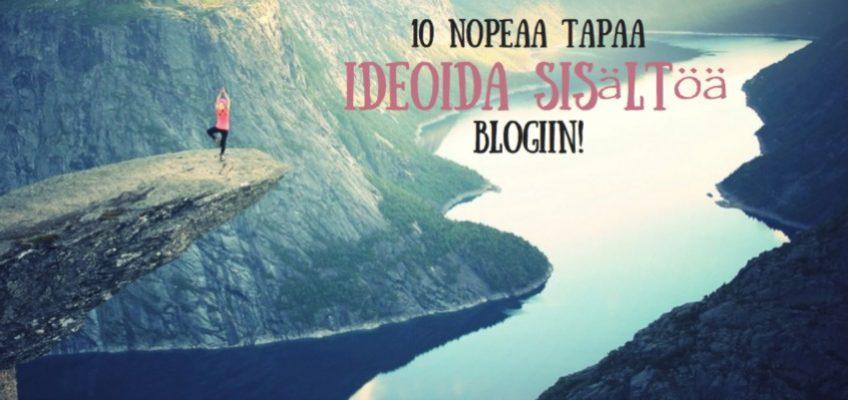 sisältöä blogiin